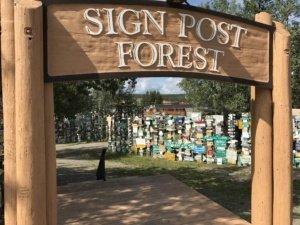 Watson Lake Sign Post Forest The Adventure Travelers