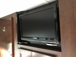 The Adventure Travelers RV Bedroom TV
