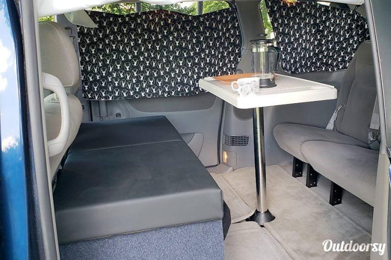 Toyota Camper Minivan Chicago RV Rental Interior