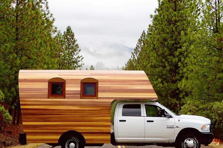 Wooden Truck Camper Rental RV Denver