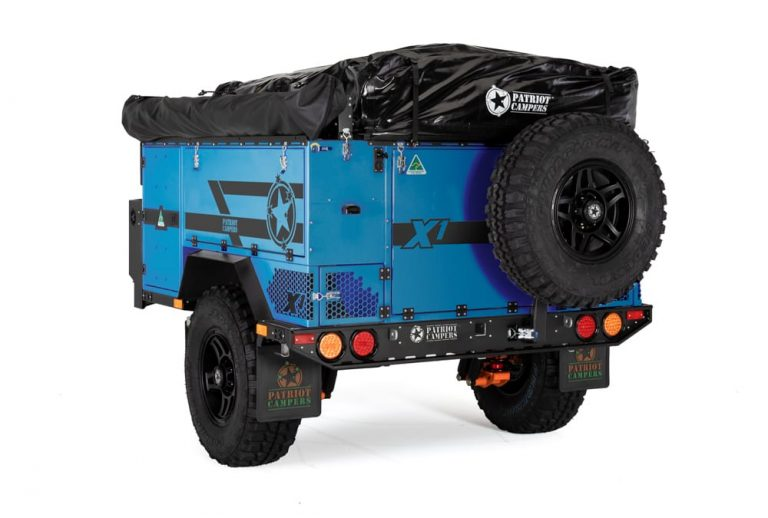 x1 2020 blue Patriot Camper Trailer The Adventure Travelers