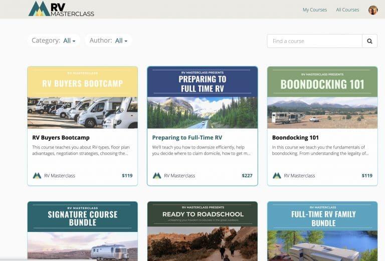 RV Masterclass Page